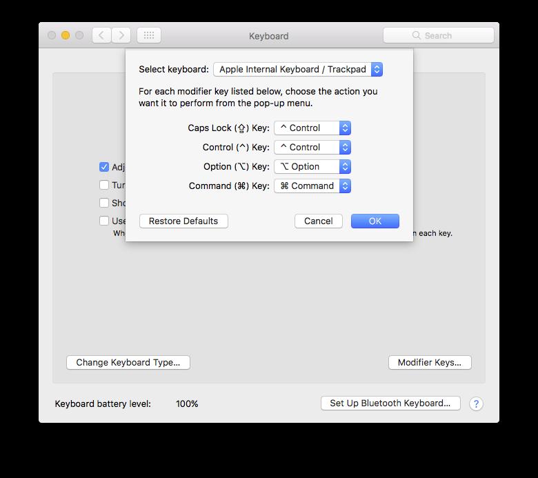 mac disable keyboard