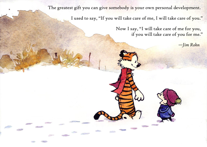 Calvin and hobbes personal development Jim Rohn