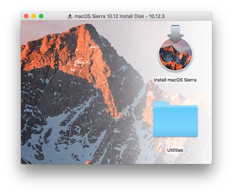 MacOS installer on USB flash drive